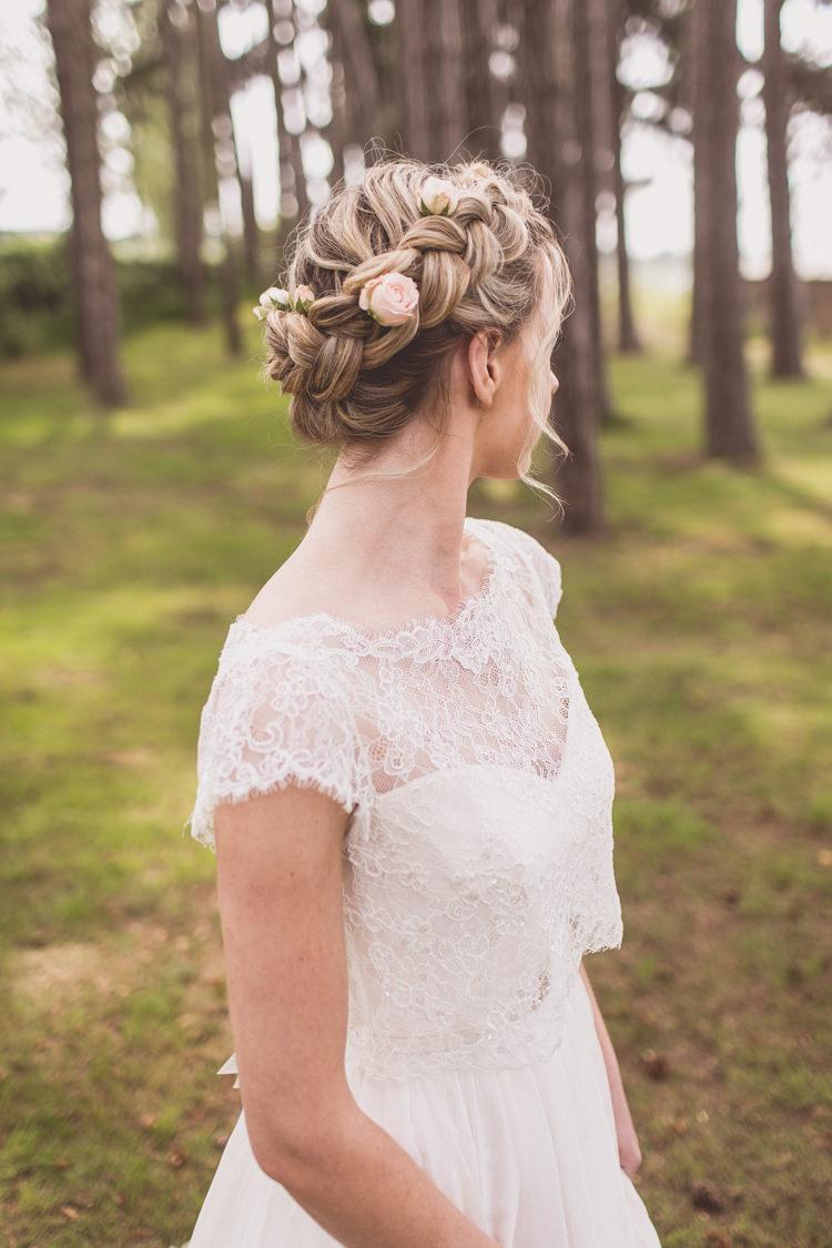 Hair Bride Bridal Plait Braid Style Rose Quartz Serenity Spring Wedding Ideas https://www.wearetheclarkes.com/