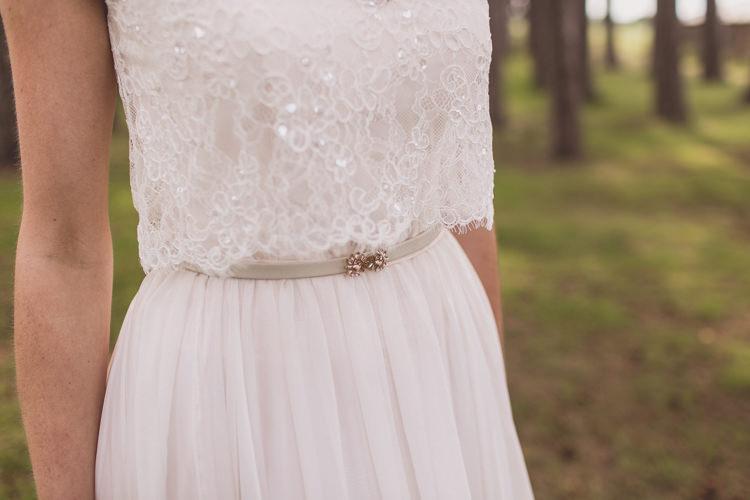 Belt Bride Bridal Gown Rose Quartz Serenity Spring Wedding Ideas https://www.wearetheclarkes.com/