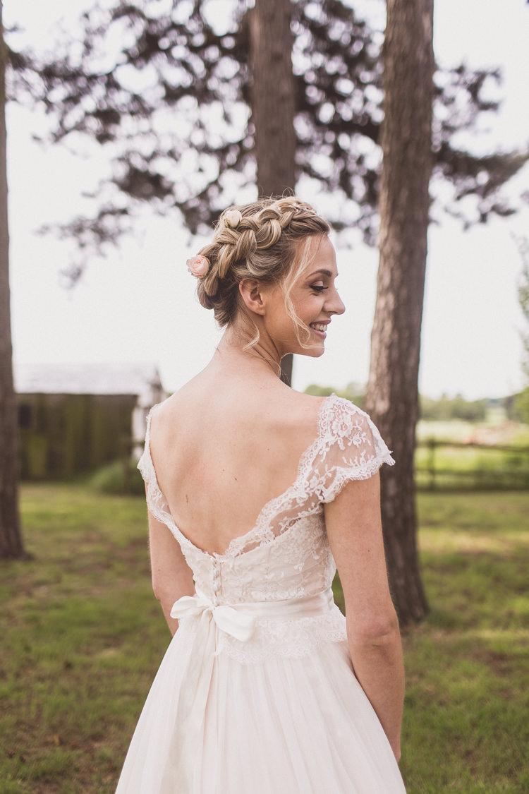 Low Back Sash Bride Bridal Gown Dress Rose Quartz Serenity Spring Wedding Ideas https://www.wearetheclarkes.com/