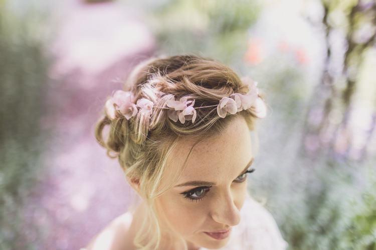 Flower Crown Accessory Bride Bridal Hair Rose Quartz Serenity Spring Wedding Ideas https://www.wearetheclarkes.com/