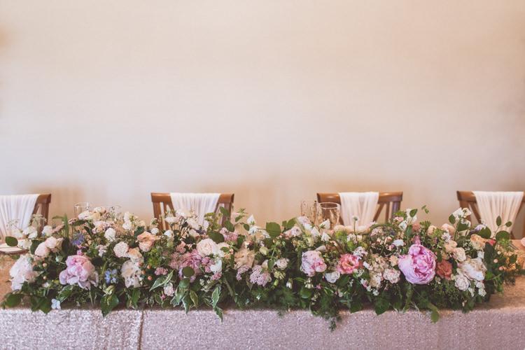 Top Table Flowers Decor Rose Quartz Serenity Spring Wedding Ideas https://www.wearetheclarkes.com/