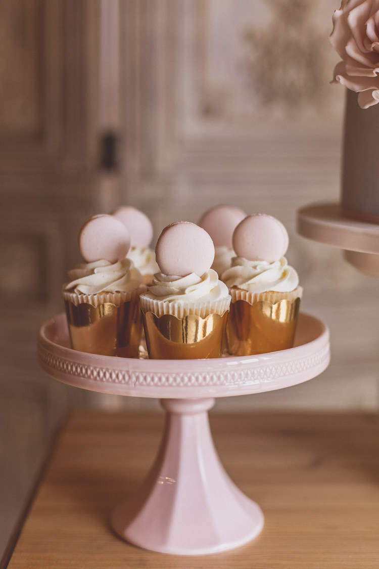 Cupcakes Macaron Stand Rose Quartz Serenity Spring Wedding Ideas https://www.wearetheclarkes.com/
