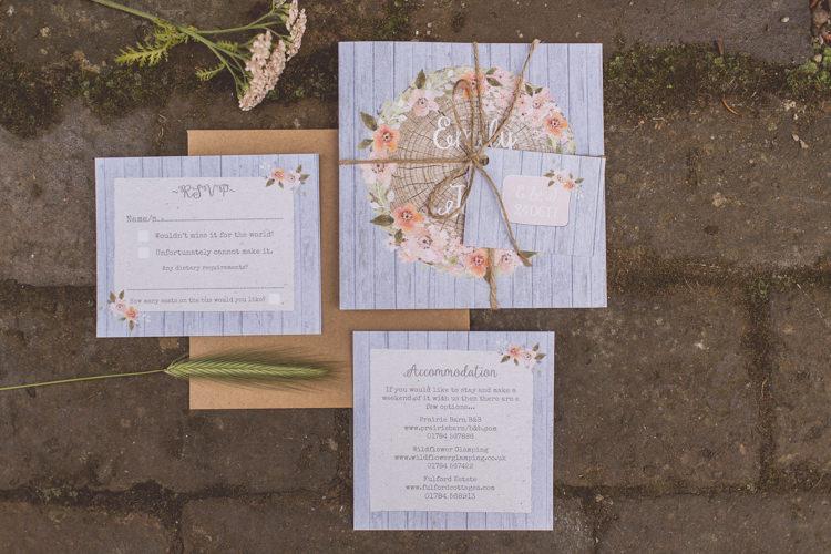 Floral Log Stationery Invite Rose Quartz Serenity Spring Wedding Ideas https://www.wearetheclarkes.com/