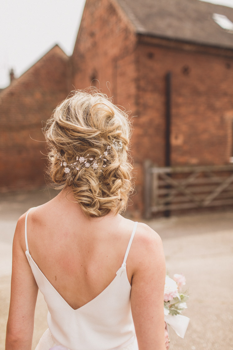 Hair Style Bride Bridal Rustic Rose Quartz Serenity Spring Wedding Ideas https://www.wearetheclarkes.com/