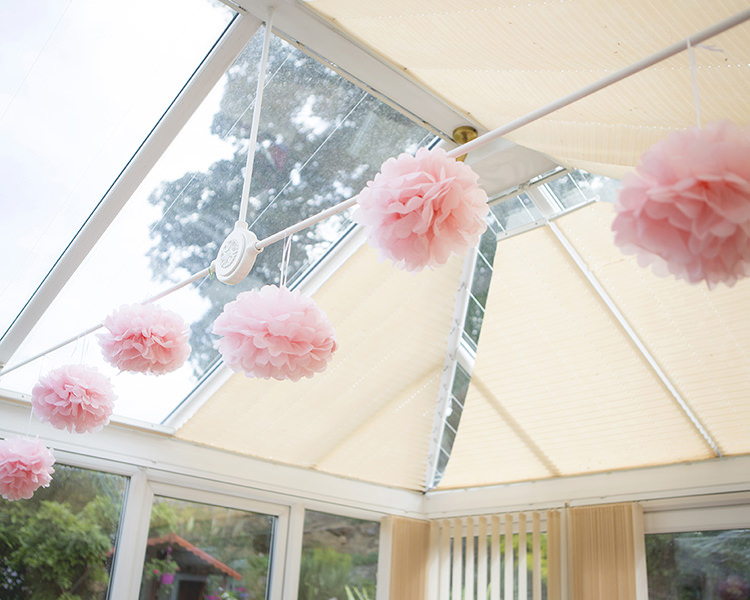 Decoration Paper Pom Pom Pastel Pretty Flower Garden Style Wedding http://katrinamatthewsphotography.co.uk/