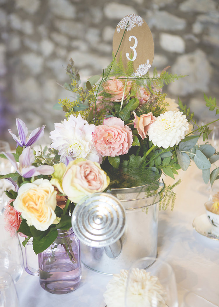 Pastel pretty flower garden style wedding whimsical wonderland table number floral container dahlia rose pastel pretty flower garden style wedding http mightylinksfo