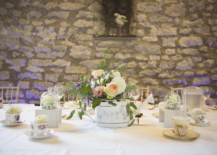 Decoration Floral Tea Cups Table Centre Pastel Pretty Flower Garden Style Wedding http://katrinamatthewsphotography.co.uk/