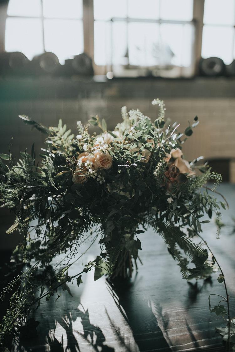 Bouquet Foliage Natural Organic Bride Bridal Industrial Into The Wild Greenery Wedding Ideas http://www.ivoryfayre.com/