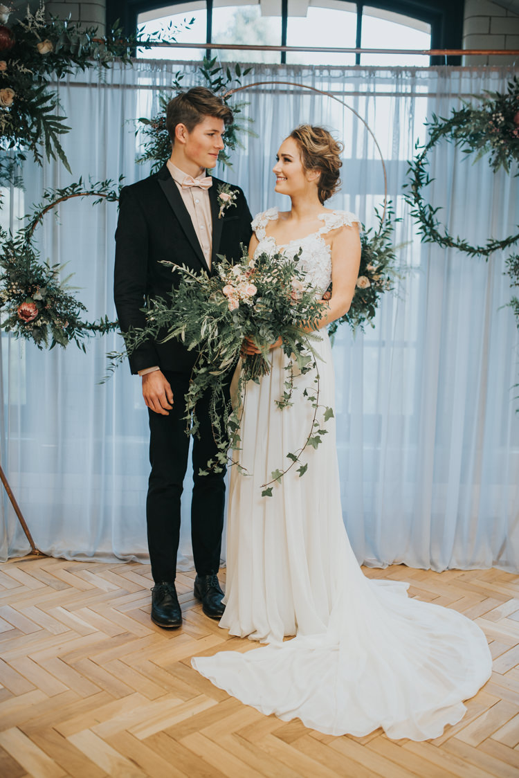 Industrial Into The Wild Greenery Wedding Ideas