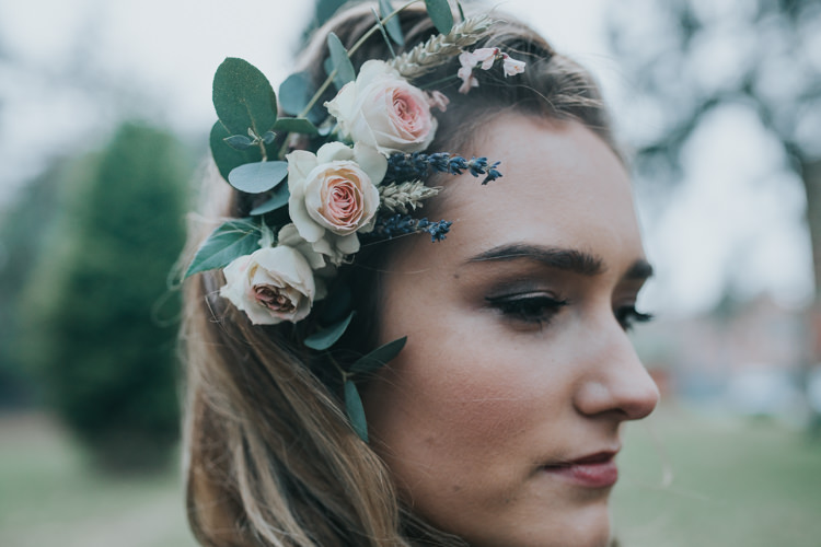 Hair Bride Bridal Style Messy Rustic Flowers Industrial Into The Wild Greenery Wedding Ideas http://www.ivoryfayre.com/