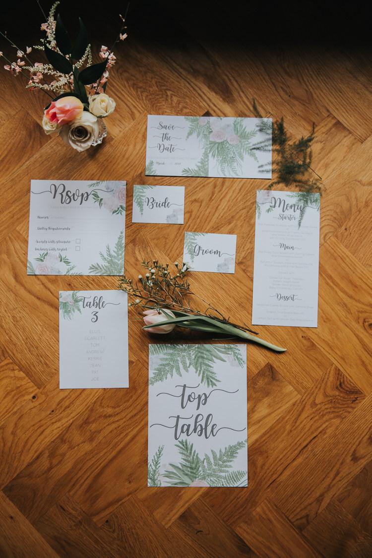 Botanical Stationery Invitation Place Card Menu Setting Paper Industrial Into The Wild Greenery Wedding Ideas http://www.ivoryfayre.com/