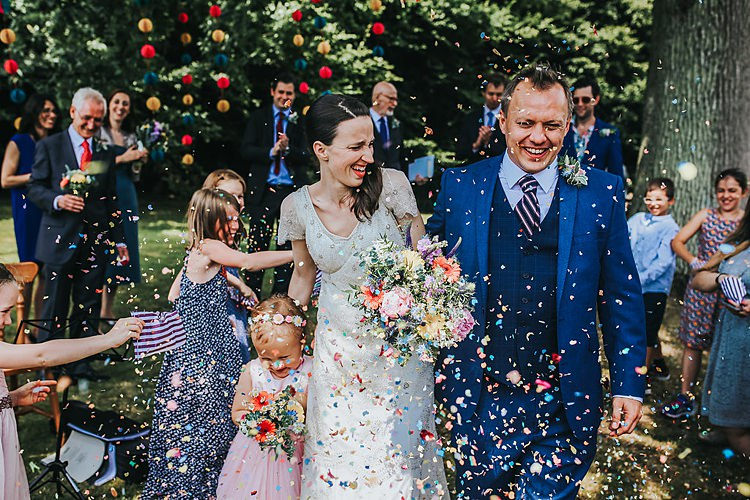 Confetti Throw Family Friendly Summer Tipi Outdoor Wedding http://www.brookrosephotography.co.uk/