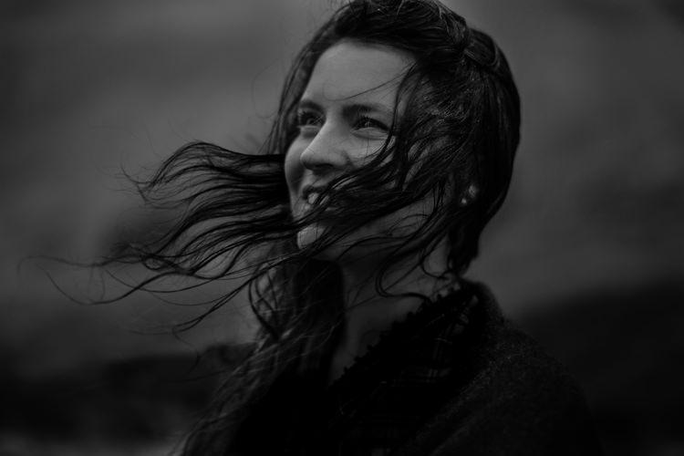 Bride Windswept Hair Black Wrap Rain Breathtaking Wild Scotland Elopement http://www.theferros.com/