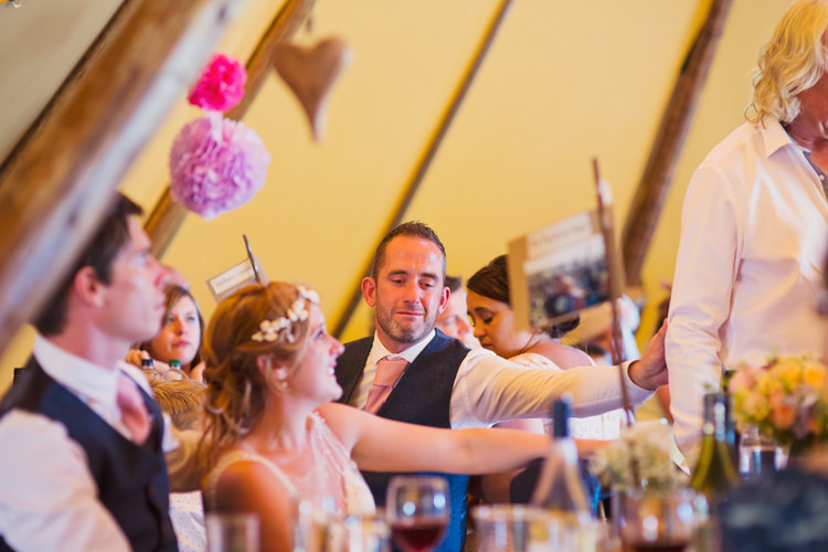 Relaxed Festival Tipi Wedding http://www.cottoncandyweddings.co.uk/