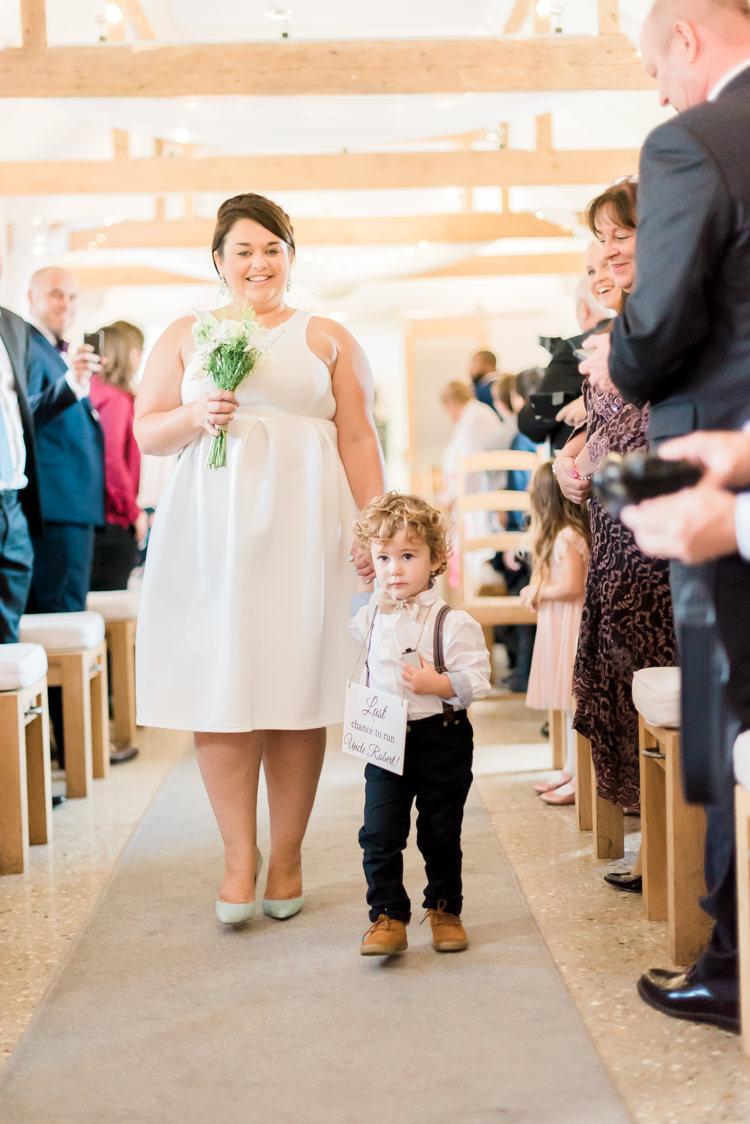 Page Boy Sign Bow Tie Braces Modern Rustic Ivory Barn Wedding http://vickylamburn.com/