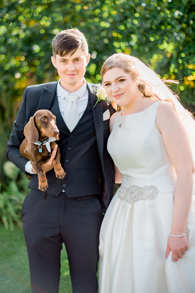 Dog Pet Bride Groom Modern Rustic Ivory Barn Wedding http://vickylamburn.com/