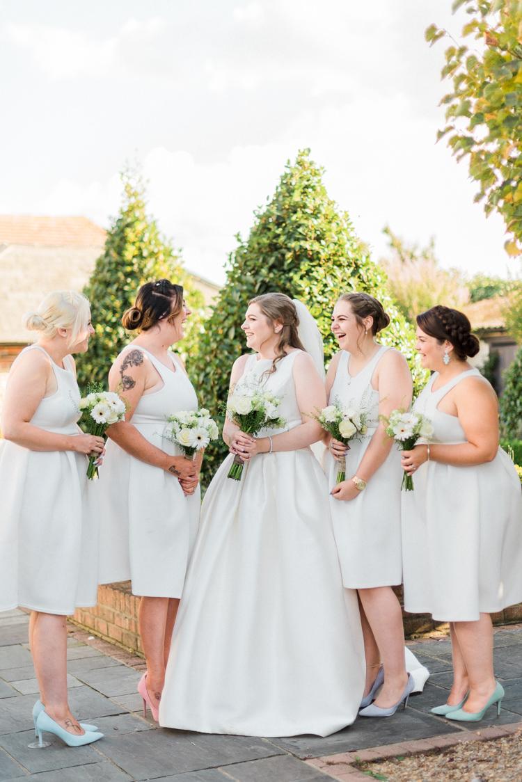 Bridesmaid Dresses Short Modern Rustic Ivory Barn Wedding http://vickylamburn.com/