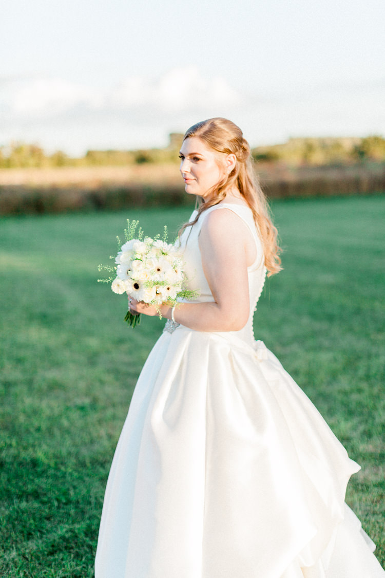 Pronovias Dress Gown Bride Bridal Modern Rustic Ivory Barn Wedding http://vickylamburn.com/