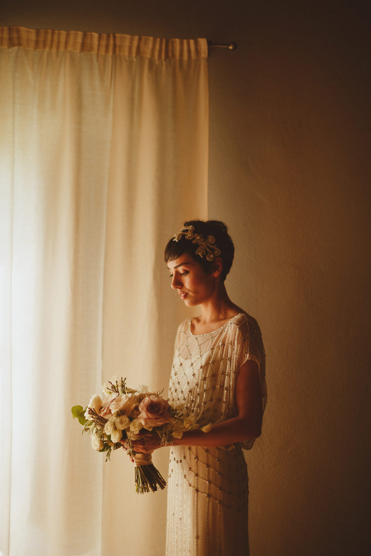 Jenny Packham Gown Dress Bride Bridal Sequin Beautifully Intimate Open Air Wedding Umbria http://www.edpeers.com/