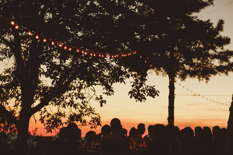 Festoon Lights Beautifully Intimate Open Air Wedding Umbria http://www.edpeers.com/
