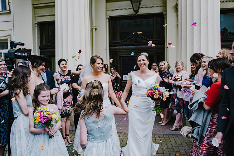 Brides Bridal Confetti Shot Colourful Fun Party Brighton Wedding http://jmcsweeneyphotography.co.uk/