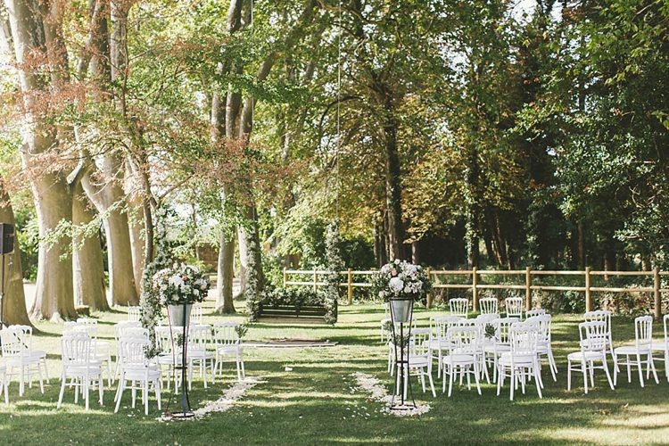 Outdoor Ceremony White Natural Romantic Chateau Destination Wedding South of France http://www.jayrowden.com/