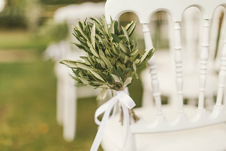 Ceremony Detail Aisle Olive Greenery White Natural Romantic Chateau Destination Wedding South of France http://www.jayrowden.com/