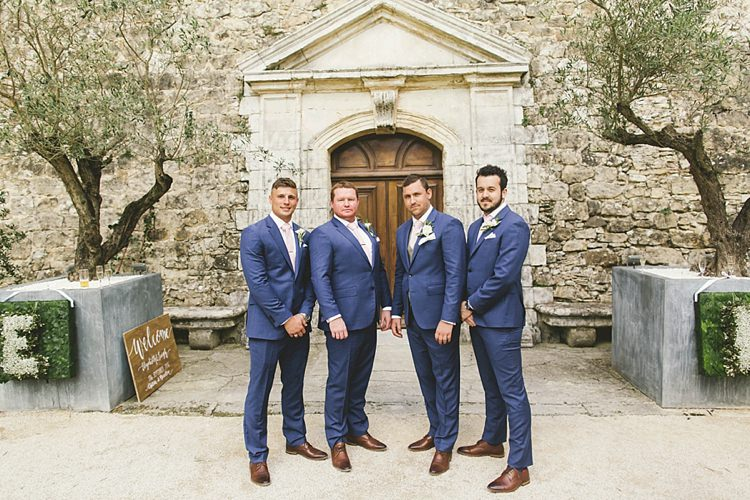 39589023 Groom Groomsmen TM Lewin Brown Brogues Blue Natural Romantic Chateau  Destination Wedding South of France http ...