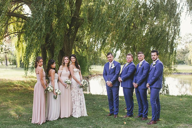 Bridemsaids Bride Bridal Pink Groom Groomsmen TM Lewin Blue Natural Romantic Chateau Destination Wedding South of France http://www.jayrowden.com/