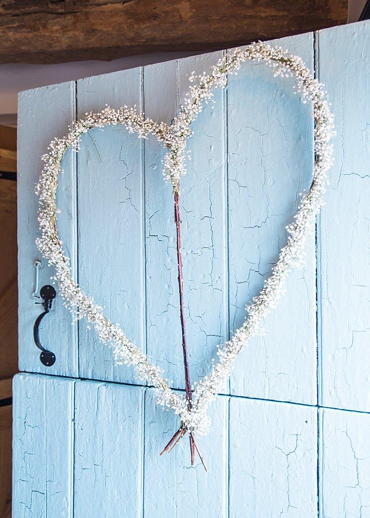 Gypsophila Rustic Flower Decoration Romantic Soft Pastels Barn Wedding http://www.sungblue.com/