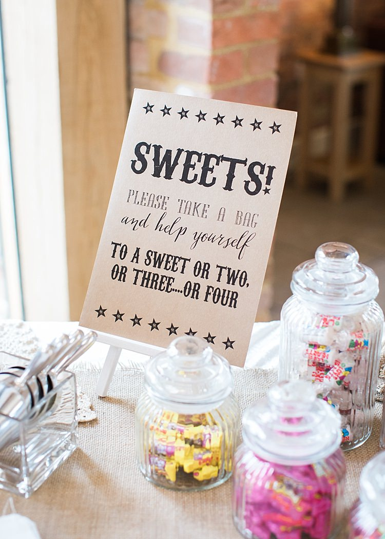 Sweet Table Rustic Jars Sign Romantic Soft Pastels Barn Wedding http://www.sungblue.com/