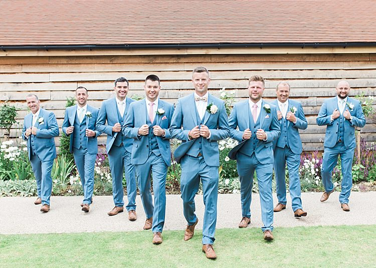 Groom Groomsmen Next Bow Tie Tan Shoes Romantic Soft Pastels Barn Wedding http://www.sungblue.com/
