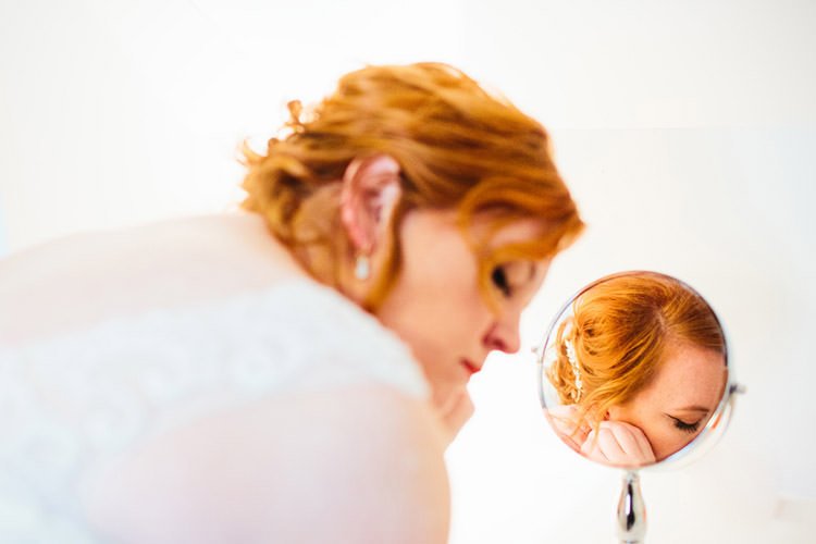 Bride Ceremony Preparations Lace Tulle Bridal Gown Vintage Hairclip Creative Quirky Rustic Barn Wedding Tennessee http://www.alexbeephoto.com/