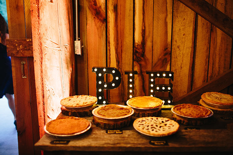 Reception Pie Station Light-Up Sign Various Pies Signs Creative Quirky Rustic Barn Wedding Tennessee http://www.alexbeephoto.com/
