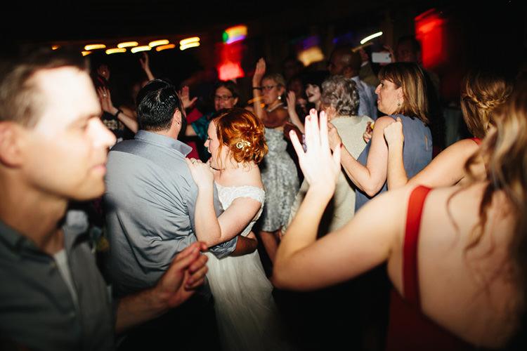 Reception Dancing Bride Lace Tulle Bridal Gown Vintage Hairpin Groom Light Grey Shirt Guests Creative Quirky Rustic Barn Wedding Tennessee http://www.alexbeephoto.com/