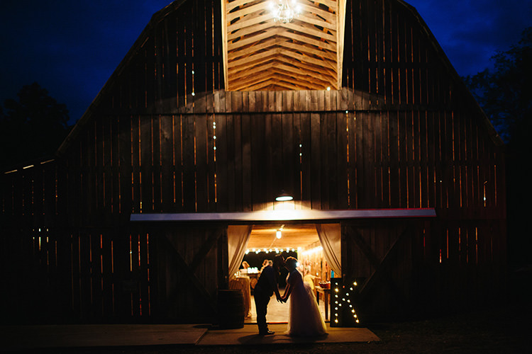 Reception Light-Up K Sign Bride Groom Silhouette Kiss Barn Creative Quirky Rustic Barn Wedding Tennessee http://www.alexbeephoto.com/