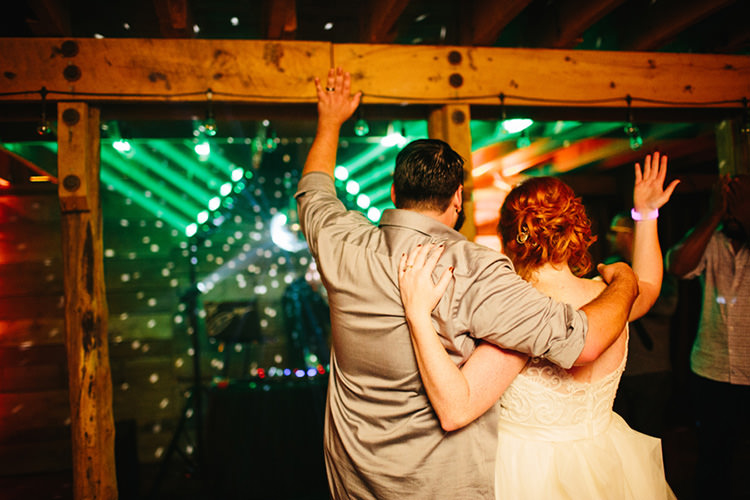 Reception Bride Lace Tulle Bridal Gown Groom Light Grey Shirt Farewell Fairy Lights Creative Quirky Rustic Barn Wedding Tennessee http://www.alexbeephoto.com/