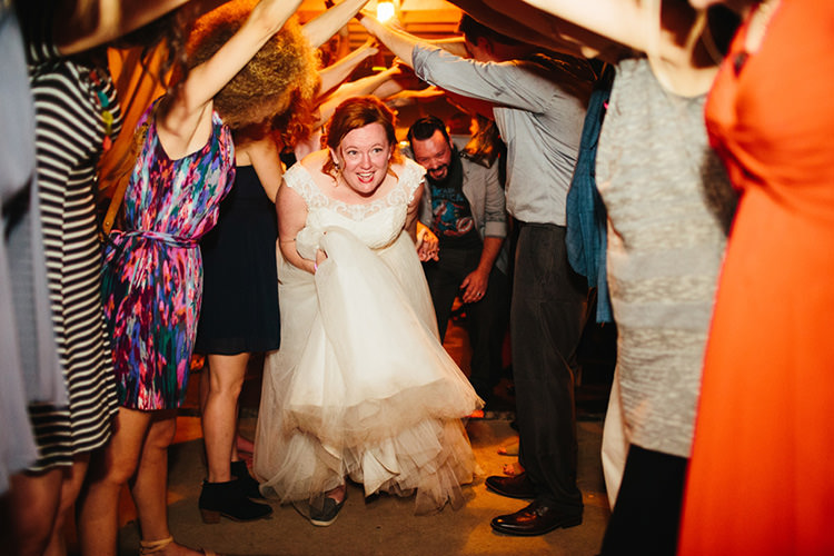 Reception Bride Lace Tulle Bridal Gown Groom Light Grey Shirt Superhero T-Shirt Guest Tunnel Creative Quirky Rustic Barn Wedding Tennessee http://www.alexbeephoto.com/