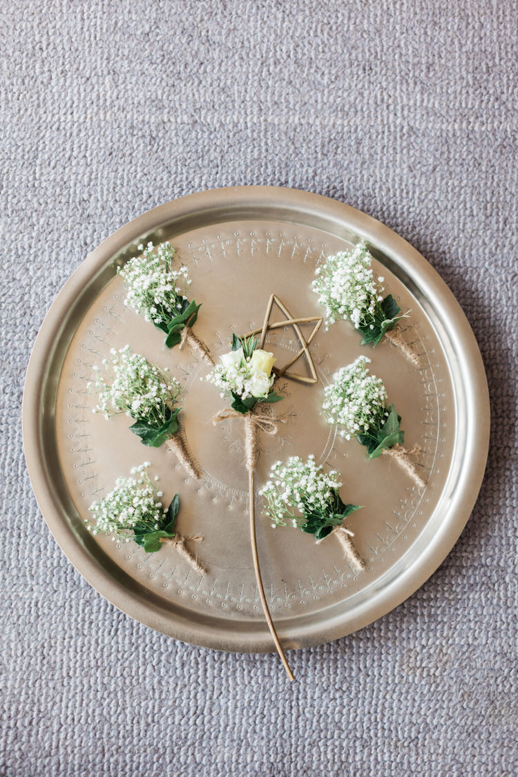 Buttonholes Twine Gypsophila Twine Beautifully Romantic Eclectic Tipi Wedding http://www.jobradbury.co.uk/