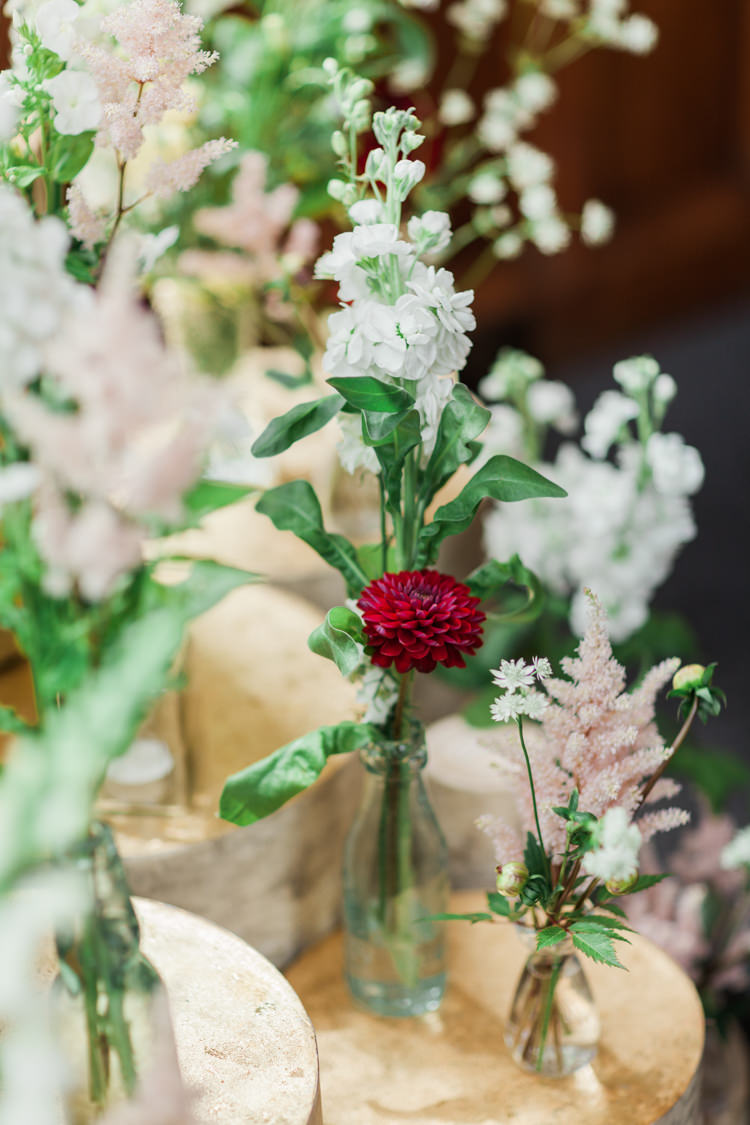 Bottle Flowers Stocks Dahlia Log Summer Beautifully Romantic Eclectic Tipi Wedding http://www.jobradbury.co.uk/
