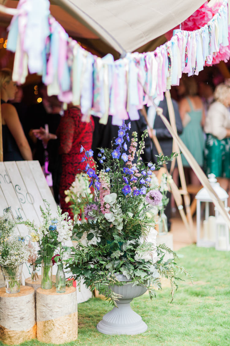 Flowers Decor Tipi Beautifully Romantic Eclectic Tipi Wedding http://www.jobradbury.co.uk/