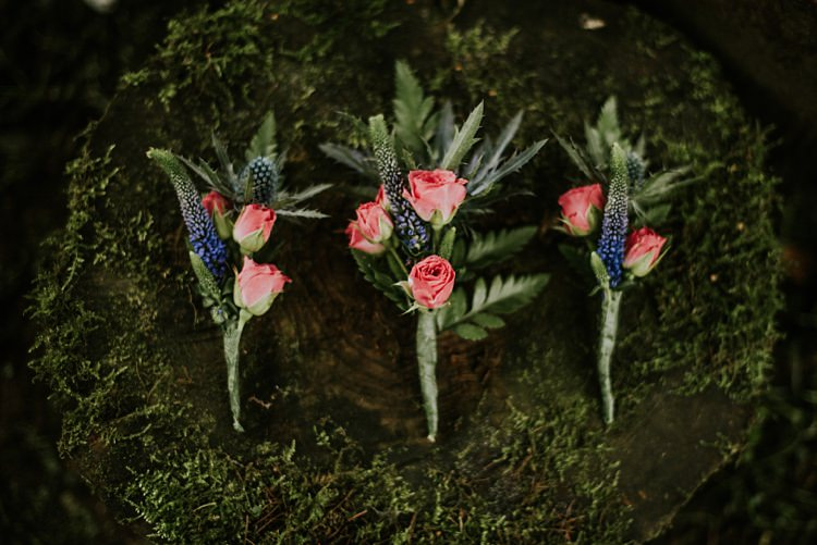 Rose Buttonhole Creative Woodland Mad Hatters Tea Party Wedding https://www.clairefleckphotography.com/