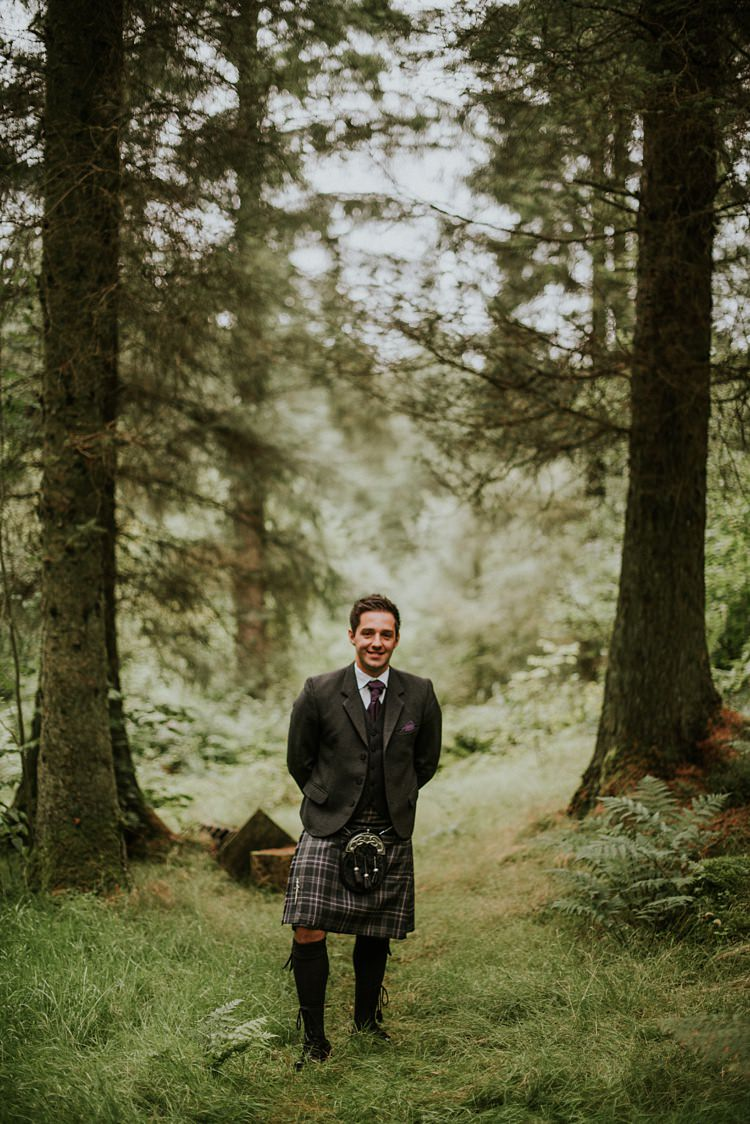 Kilt Tweed Groom Creative Woodland Mad Hatters Tea Party Wedding https://www.clairefleckphotography.com/