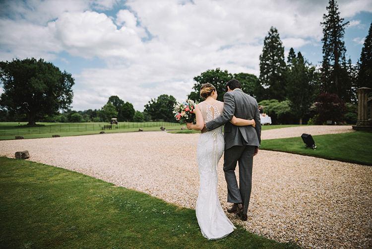 Bride Bridal Jenny Packham Dress Grown Hairpiece Steven Purvis Bespoke Groom Scenic Outdoor Loch Lomond Wedding http://www.lisadevinephotography.co.uk/