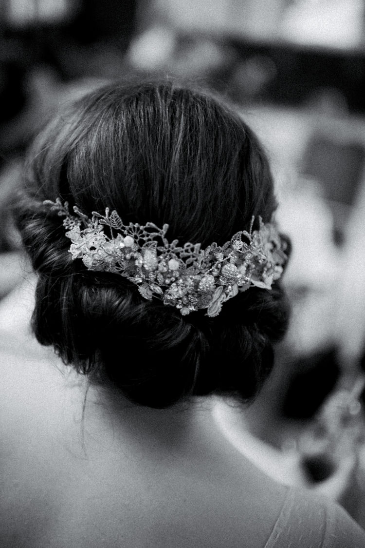 Hair Bride Bridal Twist Up Do Style Quirky Vintage Fun Loving Hall Wedding http://www.karolinasimankowicz.com/