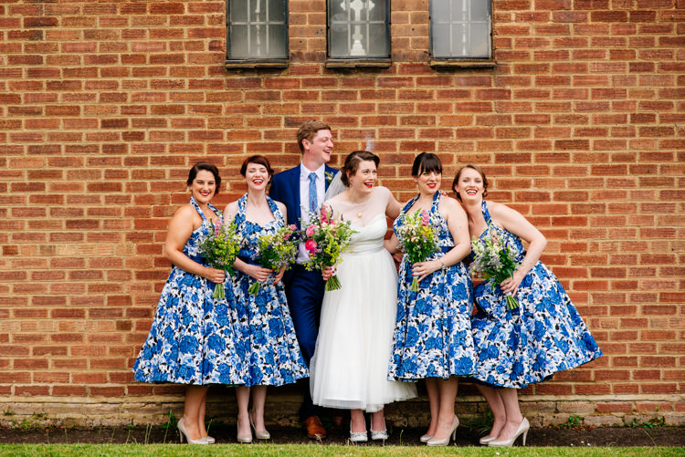 Short Prom Dresses 1950s Floral Bridesmaids Blue Quirky Vintage Fun Loving Hall Wedding http://www.karolinasimankowicz.com/