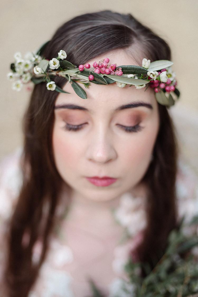 Flower Crown Vine Headdress Bride Bridal Accessory Wax Berries Cherry Blossom Soft Spring Wedding Ideas http://www.photographybybea.co.uk/
