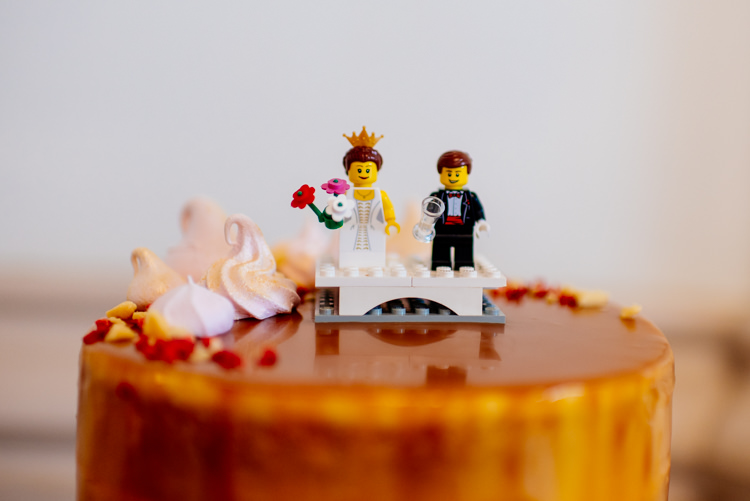 Lego Cake Topper Quirky Vintage Fun Loving Hall Wedding http://www.karolinasimankowicz.com/