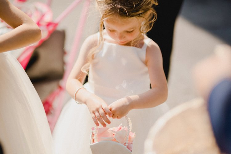 Flower Girl Basket Petals Romantic Vibrant Pink Wedding Trieste http://www.emotionttl.com/en/home/