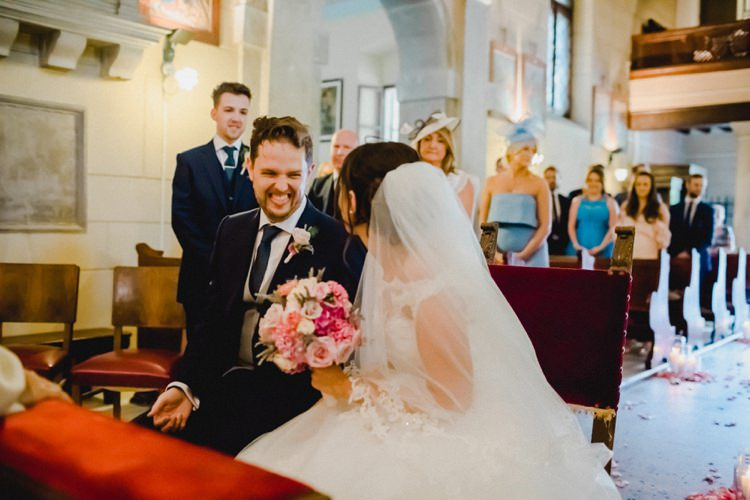Chapel Ceremony Laughter Romantic Vibrant Pink Wedding Trieste http://www.emotionttl.com/en/home/